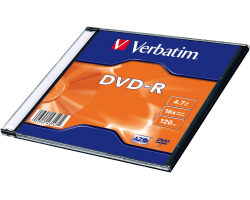 DVD-R Verbatim 4.7GB 16× Matt Silver Single pack Slimcase (min. 20 kom)