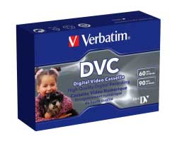 Verbatim Mini-DV Digital Video Cassette (DVC) 60min, single pack