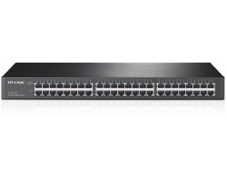 "TP-Link 48-port Gigabit preklopnik (Switch), 48×10/100/1000M RJ45 ports, 1U 19"" rack-mount, metalno kućište"