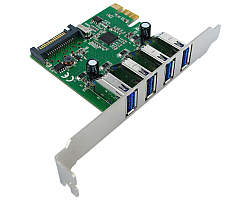 Roline VALUE PCIe kontroler 4×USB3.0 port