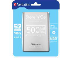 "Verbatim 2.5"" Smart Disk 500GB HDD USB3.0, srebrni"