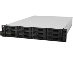 Synology RS2416RP+ RackStation 12-bay NAS server, Intel Atom Quad Core 2.4GHz, 2GB DDR3, Hot-Swap HDD, 4xG-LAN, Link Aggregation, Wake on LAN/WAN, Redundant Power Supply