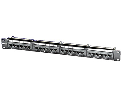 "Roline Cat.5e 19"" Patch Panel 24-porta UTP, crni"