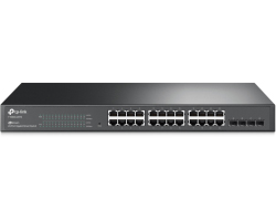 "TP-Link JetStream 24-port Gigabit Smart preklopnik (Switch), 24×10/100/1000M RJ45 ports, 4×SFP, 1U 19"" rack mount"