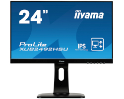 "IIYAMA 24"" ProLite XUB2492HSU (23.8"") 16:9 Full HD (1920×1080) Pivot IPS LED TFT, 5ms, 250 cd/m2, D-Sub/HDMI/DP/USB2.0×3, HDCPI, zvučnici, crni"