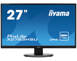 "IIYAMA 27"" ProLite X2783HSU-B3 16:9 Full HD (1920×1080) AMVA+ LED TFT, 4ms, 300 cd/m2, VGA/HDMI/DP, USB2.0×2, HDCP, zvučnici, crni"