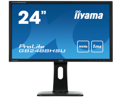 "IIYAMA 24"" G-Master GB2488HSU 16:9 Full HD (1920 x 1080) Pivot TN LED, 1ms, 144Hz, 350 cd/m2, DVI-D/HDMI×2/DP/USB3.0×2, HDCP, zvučnici, crni"