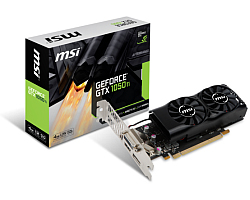 MSI GeForce GTX 1050 Ti 4GT LP, 4GB, GDDR5/128-bit,  PCIe 3.0, DL DVI-D/HDMI/DP, Low Profile