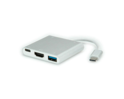 Roline adapter USB3.1 Type C - HDMI+1×USB3.0+2×USB2.0+1×PD C (M/F)