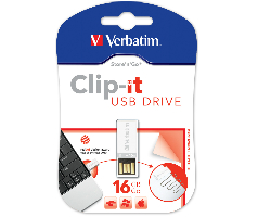 Verbatim USB2.0 Store'n'Go Clip-It 16GB, bijeli