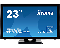 "IIYAMA 23"" ProLite T2336MSC-B2 Full HD PCAP 10P Touchscreen IPS, 5ms, 213cd/m2, 1000:1, zvučnici, VGA/DVI-D/HDMI, 4× USB3.0, crni"