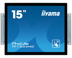 "IIYAMA 15"" ProLite TF1534MC-B1X 5:4 (1024×768) Projective Capacitive 10P Touchscreen Open Frame LED, 8ms, 330cd/m2, 700:1, VGA/DVI/USB, crni"
