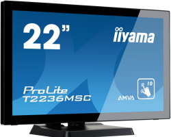 "IIYAMA 22"" ProLite T2236MSC-B2 (21.5"") Full HD PCAP 10P Touchscreen AMVA, 8ms, 215cd/m2, 3000:1, zvučnici, VGA/DVI-D/HDMI, 5×USB3.0, crni"