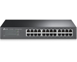 "TP-Link 24-port Gigabit preklopnik (Switch), 24×10/100/1000M RJ45 ports, 13"" Desktop/Rack, metalno kućište"