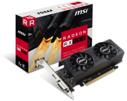MSI AMD Radeon RX550 2GT LP OC 2GB GDDR5/128-bit, PCIe 3.0, DL DVI-D/HDMI, Low-profile