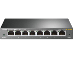 TP-Link 8-port Gigabit Easy Smart preklopnik (Switch), 8×10/100/1000M RJ45 ports, metalno kučište
