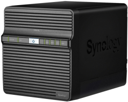 "Synology DS418j DiskStation 4-bay NAS server, 2.5""/3.5"" HDD/SSD podrška, 1GB, 1×G-LAN, Wake on LAN/WAN"