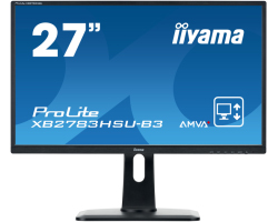 "IIYAMA 27"" ProLite XB2783HSU-B3 16:9 Full HD (1920×1080) AMVA+ LED, Pivot, 4ms, 300 cd/m2, VGA/HDMI/DP, USB2.0×3, HDCP, zvučnici, crni"