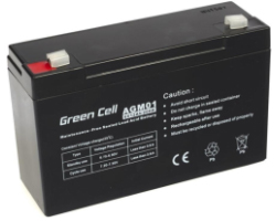 Green Cell (AGM01) baterija AGM 6V 12Ah