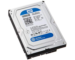 Western Digital Blue 500GB SATA3, 7200rpm, 32MB cache (WD5000AZLX)