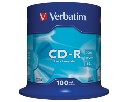 CD-R Verbatim 700MB 52× DataLife 100 pack spindle EP