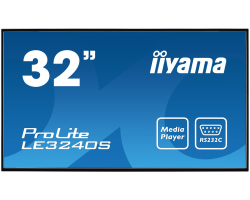 "IIYAMA 32"" ProLite LE3240S-B1 (31.5"") 16:9 Full HD (1920×1080) IPS LED, 12/7, 8ms, VGA/ DVI/HDMI/Component video, RS232C/RJ45/IR, USB2.0, zvučnici, crni"