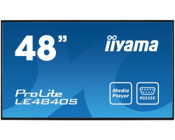 "IIYAMA 48"" ProLite LE4840S-B1 16:9 Full HD (1920×1080) SVA LED, 12/7, 8ms, VGA/ DVI/HDMI/Component video, RS232C/RJ45/IR, USB2.0, zvučnici, crni"