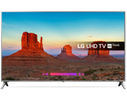 "LG 55"" (140cm) 55UK6500 4K UHD Smart LED, DVB-T2/C/S2, 4×HDMI/2×USB/LAN, Ultra Surround, WiFi, webOS 4.0"
