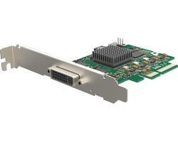 Magewell Pro capture DVI 4K, LP PCIe x4, 1-channel DVI/HDMI, Ultra HD 4Kp30 HDMI, 4Kp30 DVI, Windows/Linux/Mac (11160)
