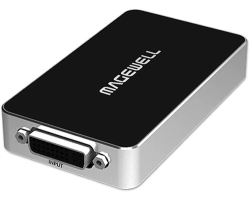 Magewell USB Capture DVI Plus, USB3.0 DONGLE, 1-channel DVI, DVI/VGA/YPbPr/CVBS with loop-through out, plus extra audio mic in/out, Plug and Play, Windows/Linux/Mac (32080)