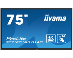 "IIYAMA 75"" ProLite TE7503MIS-B1AG, 16:9 4K UHD (3840×2160) IPS LED, 24/7, Interactive 20pt Infrared Touchscreen, 6ms, VGA/HDMI×3/DP/RS232/RJ45, USB×4, iiWare 8.0 (Android OS), zvučnici, crni"