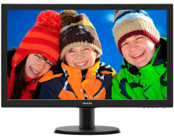 "Philips 24"" 243V5LHSB/00 (23.6"") 16:9 Full HD (1920×1080) LED, 1ms, VGA/DVI-D/HDMI, crni"