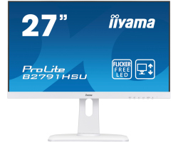 "IIYAMA 27"" ProLite B2791HSU-W1 16:9 Full HD (1920×1080) LED, Pivot, 1ms, 300 cd/m2, VGA/HDMI/DP/USB2.0×2, HDCP, zvučnici, bijeli"