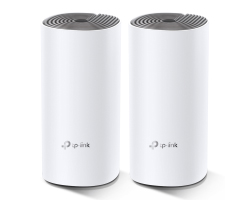 TP-Link AC1200 Deco E4 (2 pack) Whole-Home Mesh Wi-Fi, Dual-Band 300Mbps/867Mbps (2.4GHz/5GHz), 2×LAN, 2×interna antena, MU-MIMO, AP Mode, IPv6 Ready, Deco App, Cloud Support, Alexa & IFTTT