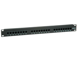 "Roline VALUE Cat.5e 19"" Patch Panel 24-porta UTP, crni"