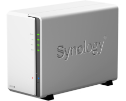 "Synology DS220j DiskStation 2-bay NAS server, 2.5""/3.5"" HDD/SSD podrška, 512MB DDR4, G-LAN, USB3.0×2, Wake on LAN/WAN"