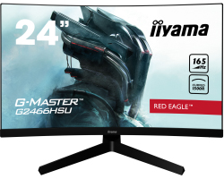 "IIYAMA 24"" G-Master Red Eagle G2466HSU-B1 (23.6"") 16:9 Full HD (1920×1080) VA LED, zakrivljeni 1500R, AMD FreeSync, 1ms, 165Hz, HDMI×2/DP/USB2.0×2, HDCP, zvučnici, crni"