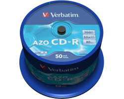 CD-R Verbatim 700MB 52× DataLife+ Crystal 50 pack spindle